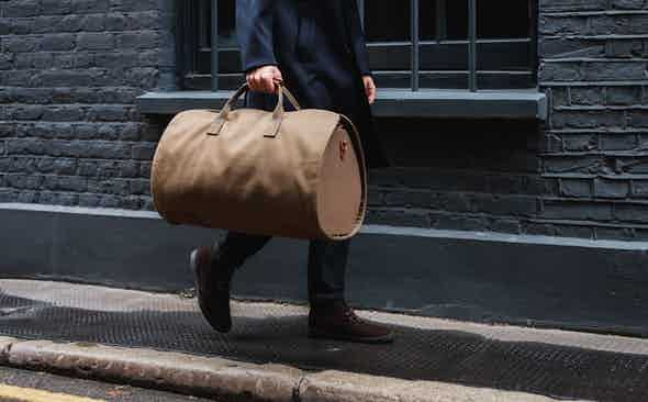 The Secret To Crease-free Travel: Bennett Winch x Simon Crompton Suit Carrier Holdall