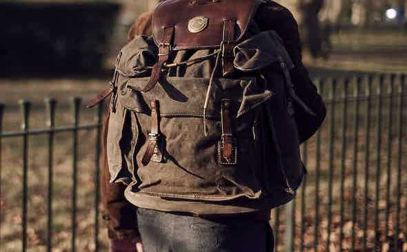 Invest: Thedi Leathers Olive Canvas Backpack