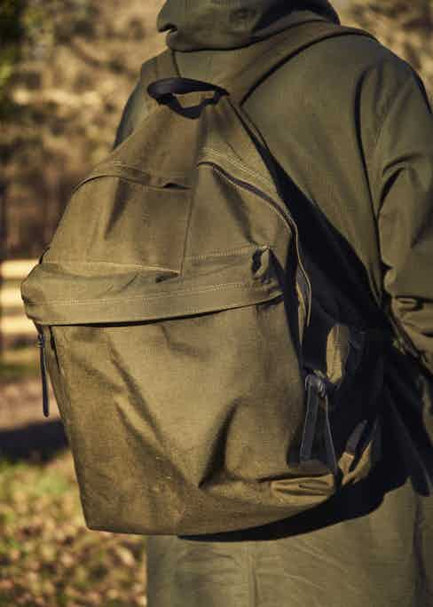 """A big fan of military clothing, Nick designed this bag as the ultimate oversized, go-anywhere rucksack. """"It's a sample from Japan that was going to be for Private White, but now it's just 'Nick Ashley Archive'."""""""