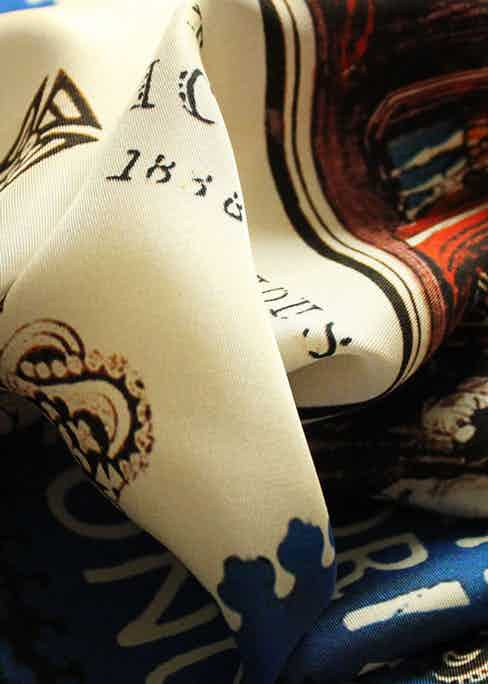 A percentage of revenue from almost all of Rampley & Co.'s pocket square designs goes back to the institutions that inspired them.