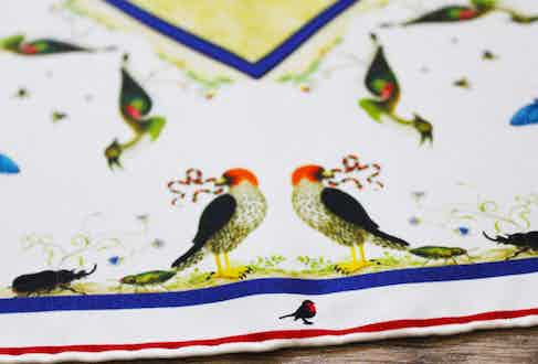 All of Rampley & Co.'s collection of pocket squares aim to tell a story.