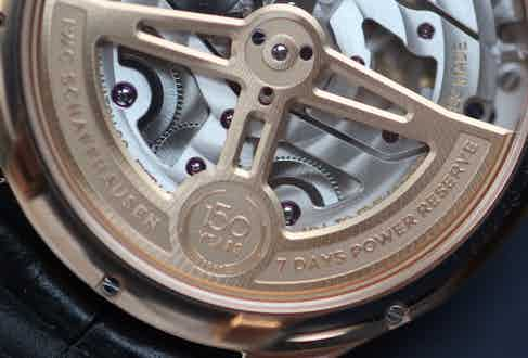 The movement boasts a solid gold rotor and two barrels. The perpetual calendar is a triumph of watchmaking because it automatically recognises the differing lengths of the months as well as leap years and will require no adjustment until 2100.