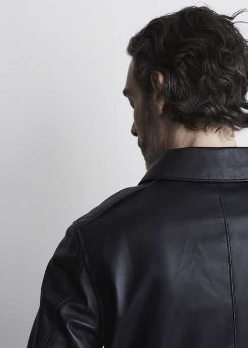 The McQueen A-1 bomber jacket is inspired by McQueen's jacket that he wore in The Great Escape.