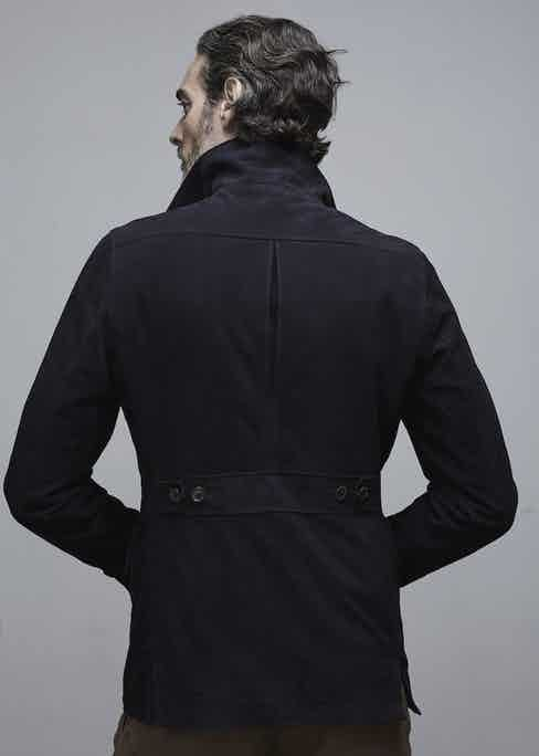 On the back there's an inverted pleat to aid movement.