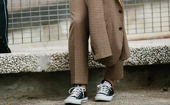How To Wear Sneakers With Tailoring