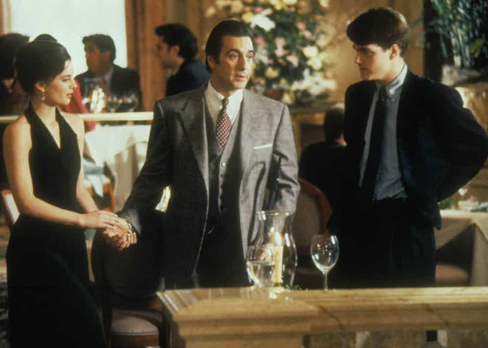 Moments before Al Pacino steps on to the dance floor with Gabrielle Anwar, he asks Charlie for 'coordinates'. He then with confidence of a man with sight, performs the tango with onlooking diners.
