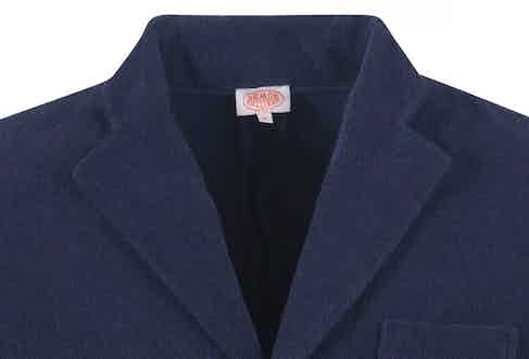 Cut with a high notch lapel and breast pocket, it's a casual blazer with sartorial standards.