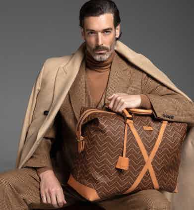 Valore's calf leather Barouche holdall.