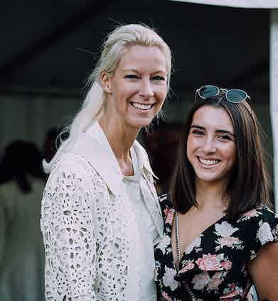 Frauke Feess and Phoebe Fox, The Rake's Customer Relations Manager.