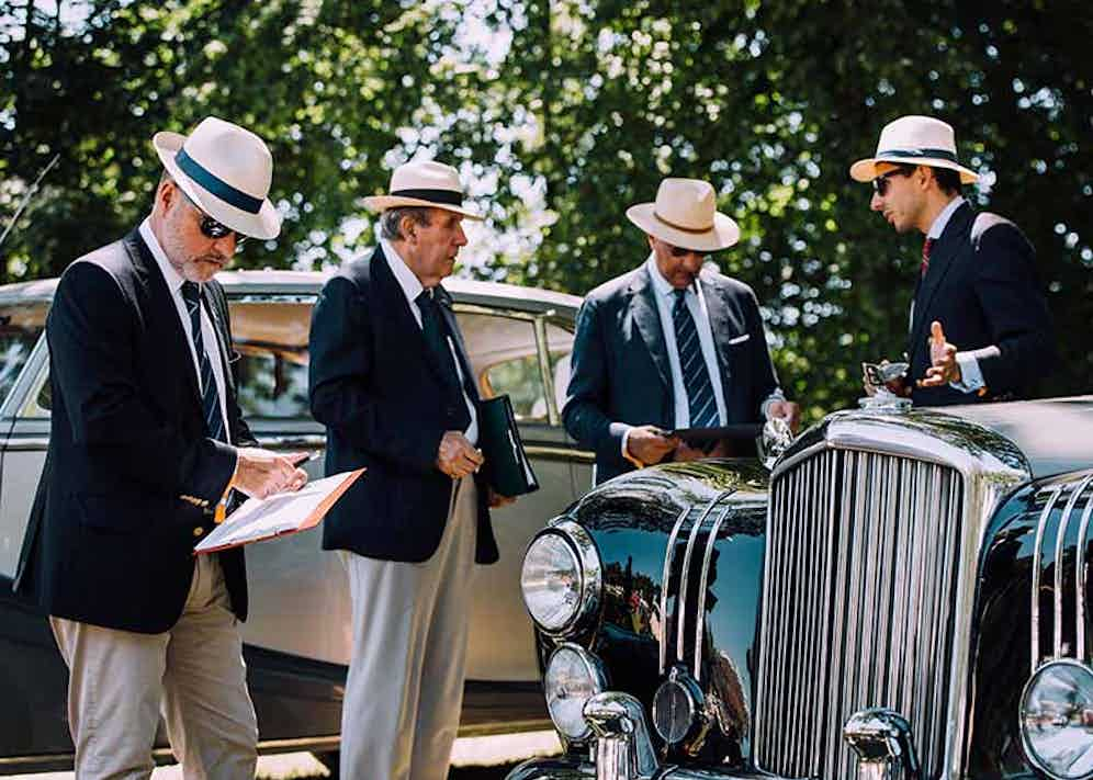 The judges at the Concours d'Elégance must adhere to the strictest criteria.