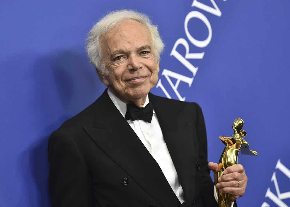 Ralph Lauren rightly recognised by the CFDA for his enduring work introducing the world to timeless and romantic American aesthetic.