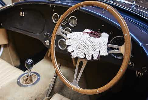 Fingerless driving gloves are de rigeur when behind the wheel of a classic car, and Omega SRL's version are peerless.
