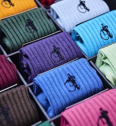 The London Sock Company's gift box contains a vibrant selection of socks for every and any occasion.