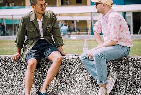 George Wang and Jeremy Kirkland at Pitti Uomo 94.