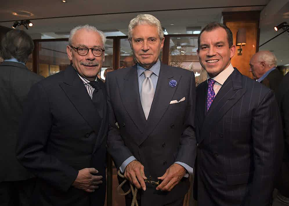 Messrs Cleverley Sr and Jr with actor Michael Nouri (Charley Gallay/Getty Images for George Cleverley)