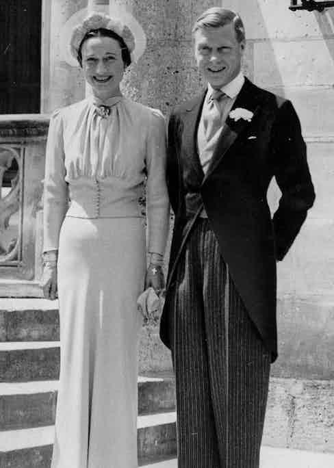 Wallis Simpson and Edward VIII at their wedding, 1937.