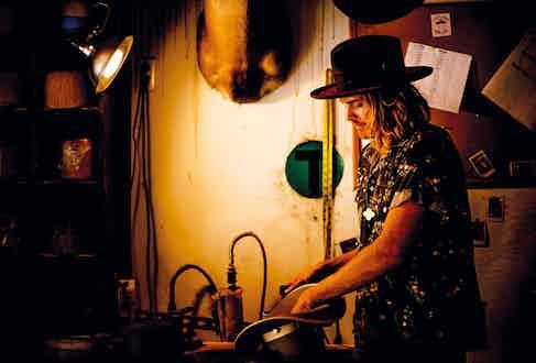 Nick working away in his Los Angeles studio.