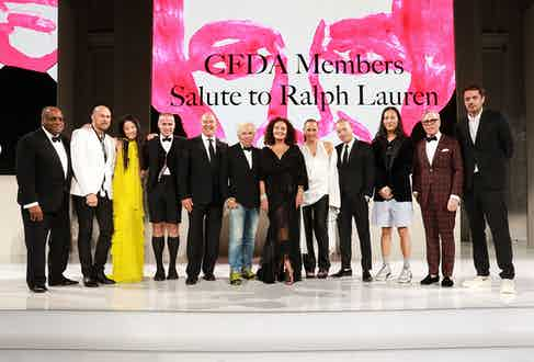 Ralph Lauren honoured by the CFDA's luminaries at the annual awards ceremony. (Getty Images)