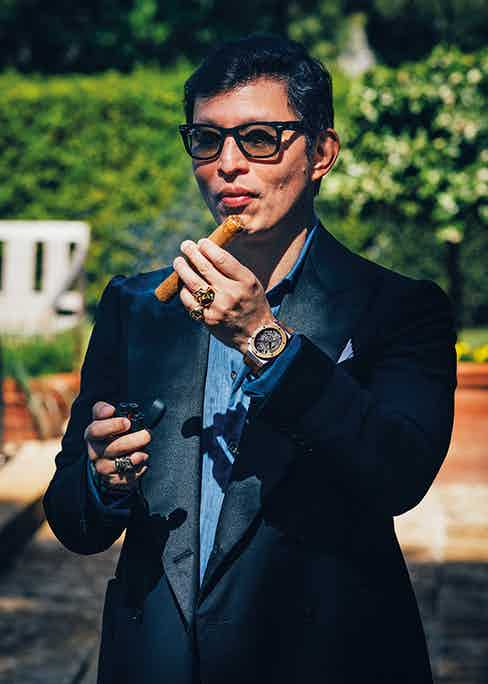 Wei Koh, founder of The Rake, in Saint-Tropez. Photo by Jules Langeard.