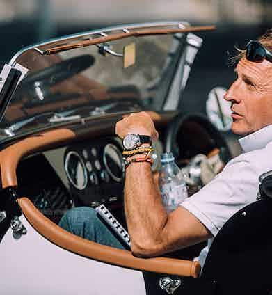 Acclaimed luxury writer Simon de Burton upgrading his wrist realty with A Lange & Sohne timepiece.