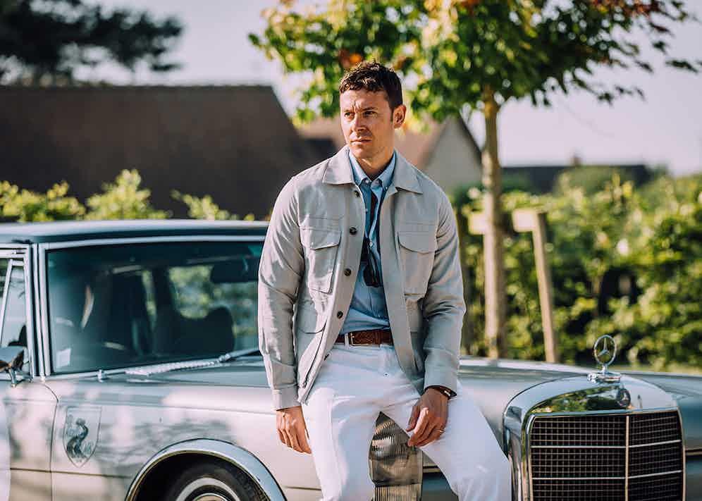 The Rake's Digital Editor wears a four-pocket Private White VC safari jacket, 100 Hands denim shirt, Kent & Curwen trousers and Elliot Rhodes belt.