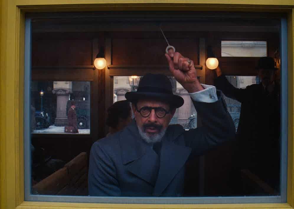 Jeff Goldblum as Deputy Kovacs in The Grand Budapest Hotel (2014).