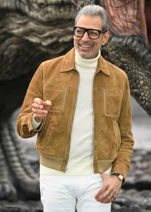 Goldblum looking slick at the Jurassic World: Fallen Kingdom Premiere.