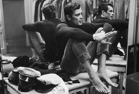McKay in a dressing room in California, 1959. Photograph by Allan Grant/The LIFE Picture Collection/Getty Images.