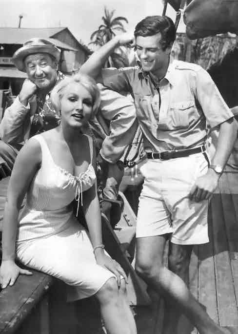 George Tobias, Julie Newmar and McKay on set, 1960.