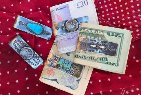 Why keep your cash scattered in a wallet when you can keep it safely stored in a hand-made money clip.