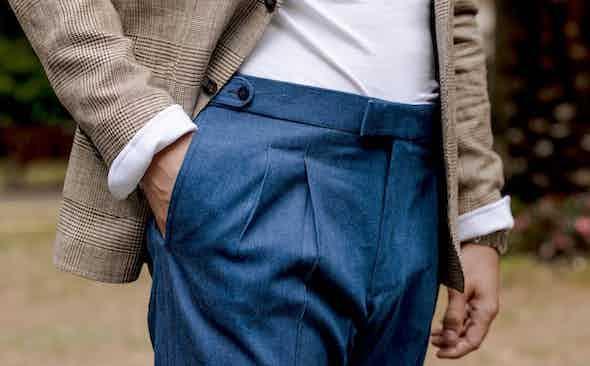 The Rake Exclusive! Stark & Sons x Paul Fournier denim trousers