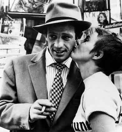Jean-Paul Belmondo stars alongside Jean Seberg in Breathless.