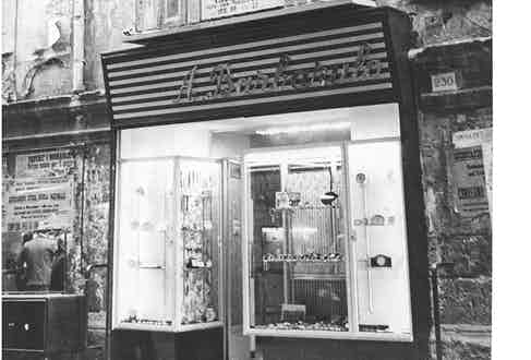 Barbarulo's store front in the 1940s.