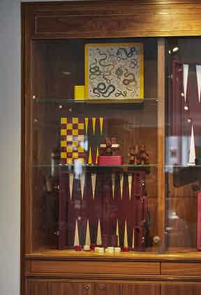 William & Son stock a range of luxury boardgames made from fine woods, for days when rain calls a halt to the shooting.