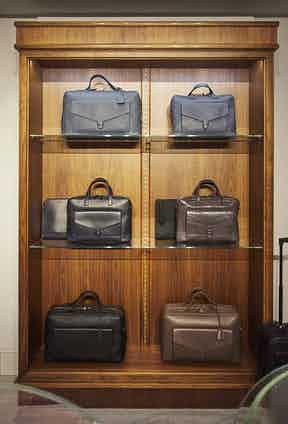 William & Son's collection of men's bags rendered in the finest leathers. The brand's uniquely elegant approach has attracted collaborations with leading industry figures such as Caroline Issa.
