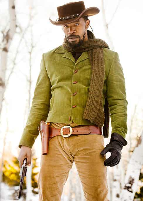 Foxx pictured playing the title role in Quentin Tarantino's revisionist western Django Unchained (Alamy).