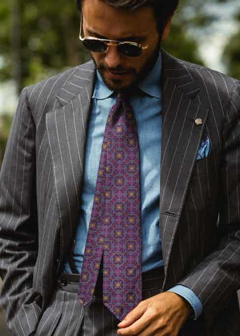 Fabio Attanasio of the Bespoke Dudes donning an unorthodox clash of patterns and colours.