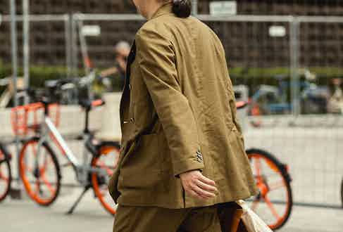 Opting for a boxier, unstructured fit can be stylish without seeming scruffy.