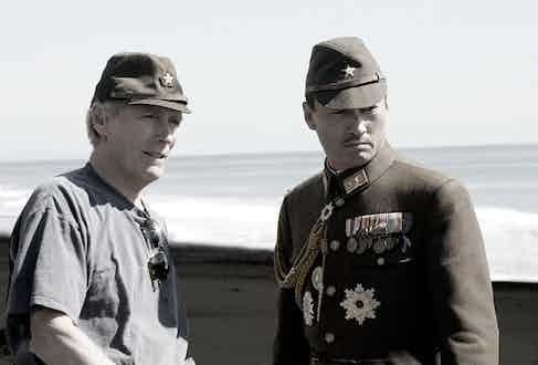 Taking direction from Clint Eastwood while filming the war epic Letters From Iowo Jima.