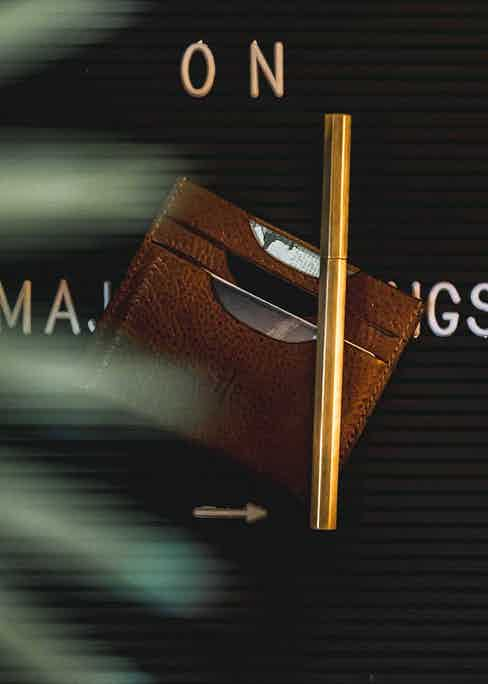 Spending money is even more pleasurable with a beautifully crafted wallet by Temporary Forevers.