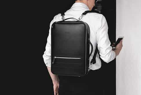 Sleek and stylish, Temporary Forevers leather backpacks will partner perfectly with your smart shirting.