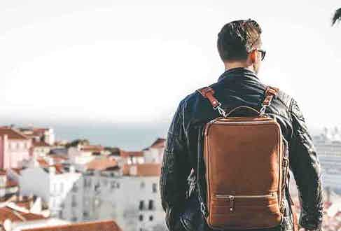 A Temporary Forevers backpack is the perfect travelling companion: compact and thoroughly stylish.