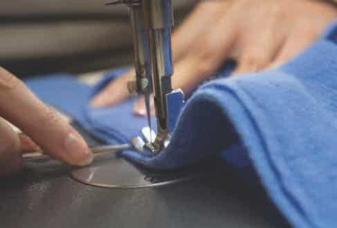 William & Son garments are stitched with utmost precision for a seamless finish. Image courtesy of William & Son.