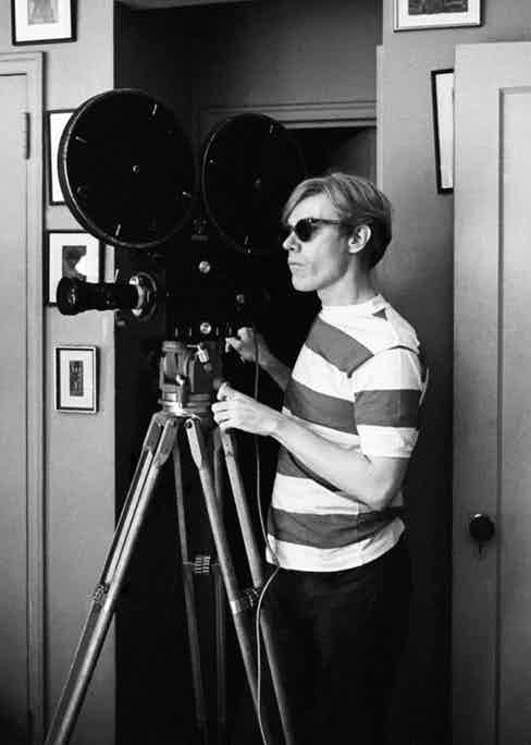 Striped tees were essential to Warhol's sartorial identity.