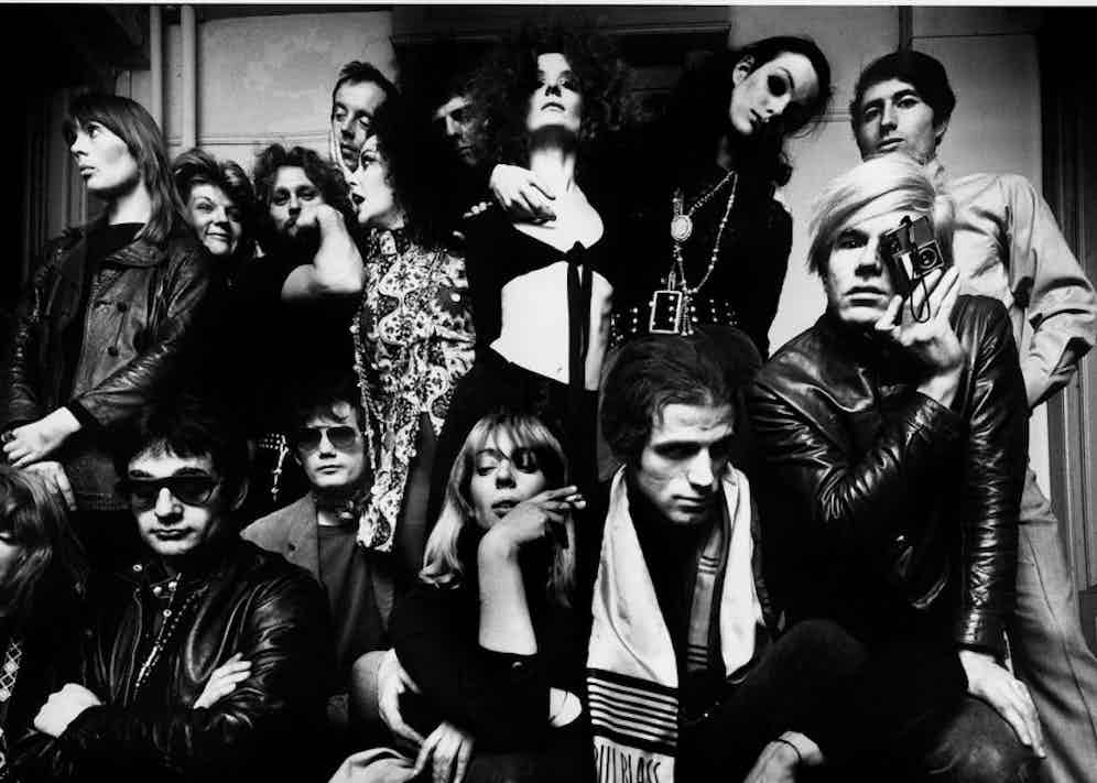 Warhol and friends at The Factory, 1968.