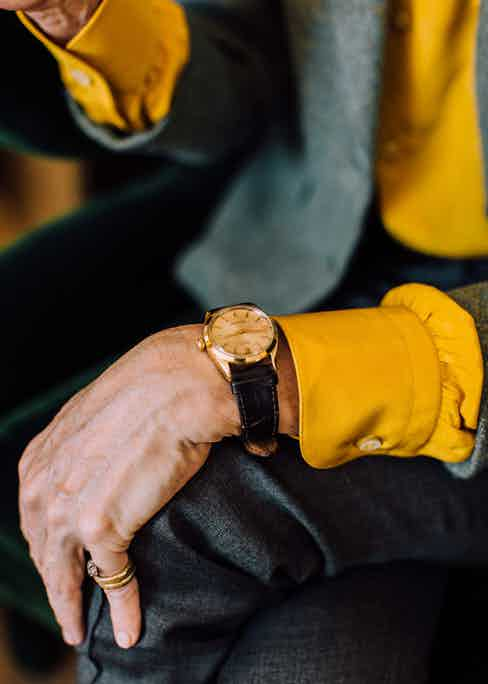 """This Rolex is on """"permanent loan"""" to Anda from a friend, who has a superstition that if you give a watch to somebody, it limits the time of your relationship."""