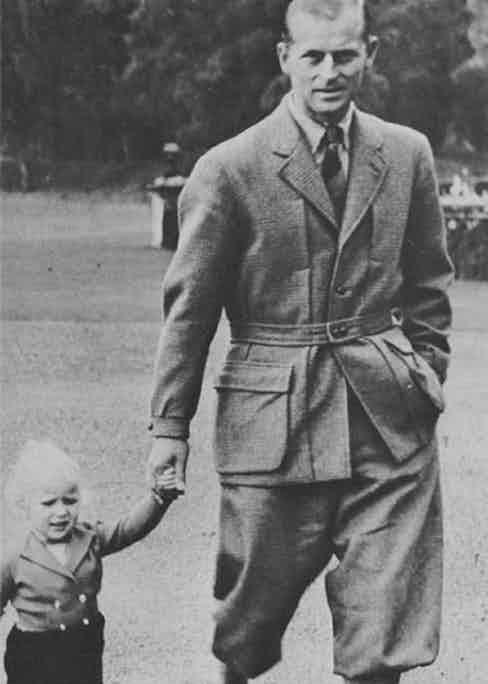 The Duke of Edinburgh wears a traditional Norfolk Jacket.