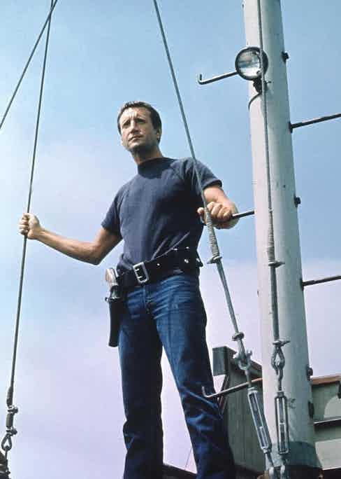 Brody sporting a simple but classic jeans and tee combo whilst scanning for danger.