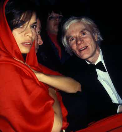 With Bianca Jagger at Studio 54. Photograph courtesy of Alamy.