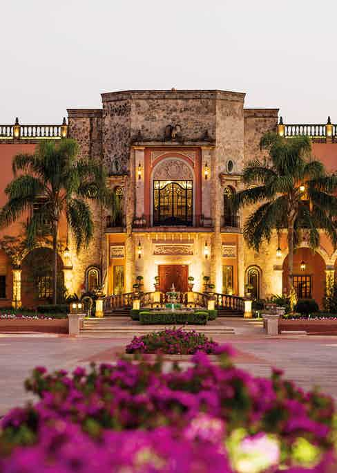 Hacienda Patron is influenced by Spanish architecture.